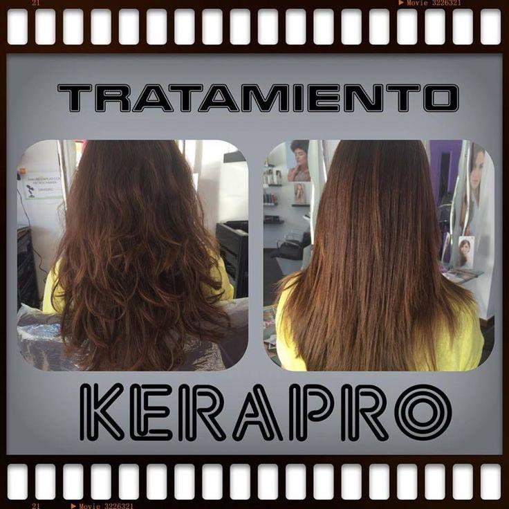 Aquí os dejamos otra imagen de nuestro reductor de volumen KERAPRO. Es una pasada como queda el cabello de liso y brillante. Te animas a probarlo? #peluqueria #brillo #alisado #tratamientos #belleza #reductorvolumen #kerapro #malaga