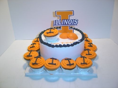 birthday cakeIllini Parties, Illini Cupcakes, Birthday Parties, Birthday Cakes