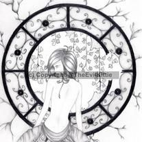 She has been waiting for such a long time and still she waits, as the world falls away around her. But she doesn't mind, she owns her peace and it is an immovable force; and her chaos is the beauty all around her.  This print is limited to 50 numbered copies, signed by the artist. Original artw...