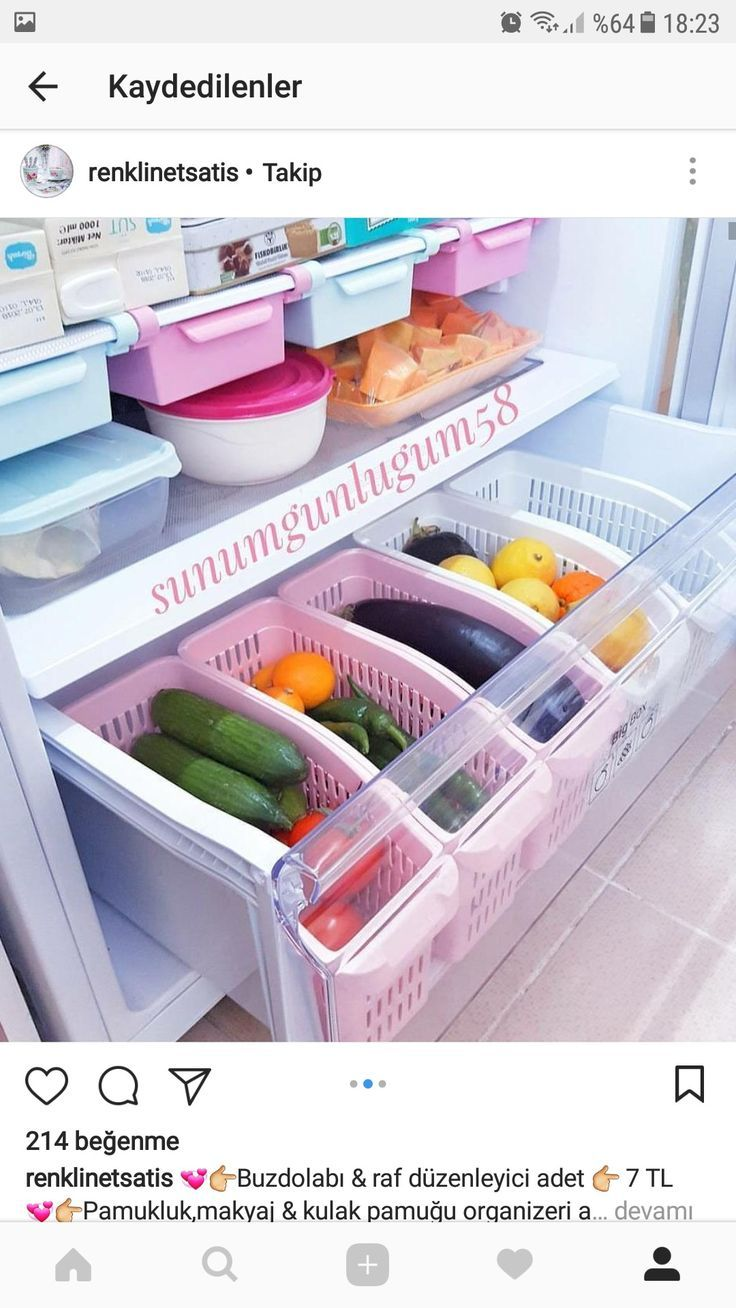Fridge organizer organization