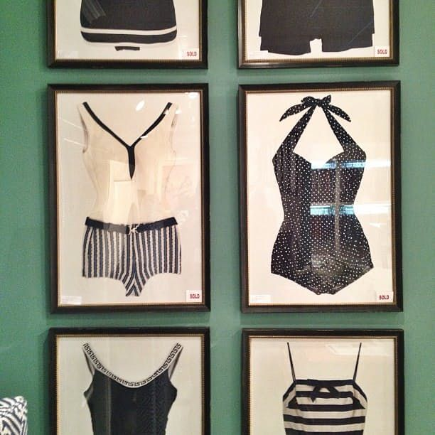 Vintage Bathing Suit Wall Art — High Point Spring Market 2013