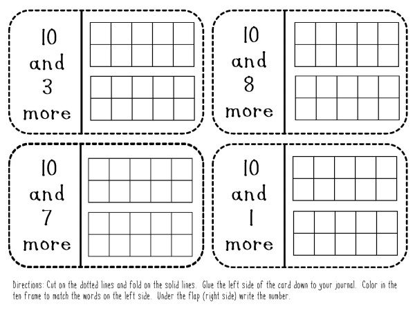 *FREE* Kindergarten Teen Number Math Journal Prompts