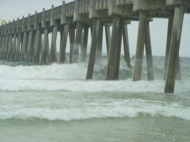 45 best tropical storms storm chasing pensacola for Pensacola beach fishing pier