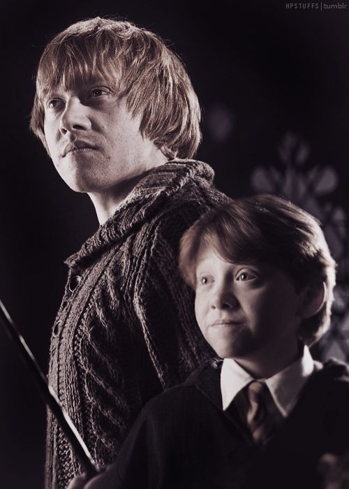 first and last ron Luckily he got a new wand
