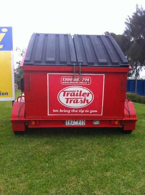 Events skip bins. This Trailer Trash skip at the Asia Pacific Melbourne Iron Man Championships.