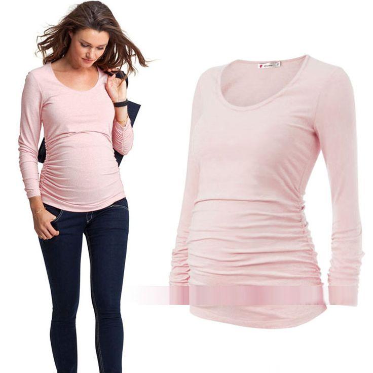 Aliexpress.com: Comprar Plica clothing primavera y el otoño de maternidad elástico de maternidad de la camiseta básica de algodón de manga larga ropa para mujeres embarazadas de top maternity fiable proveedores en Aimili Fashion Store