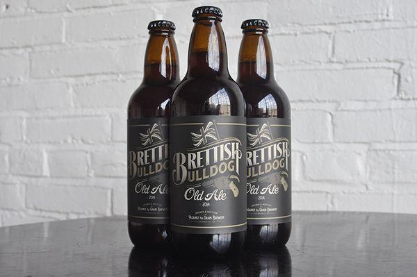 British Bulldog Olde Ale Wine Packaging Design | Print Design ...
