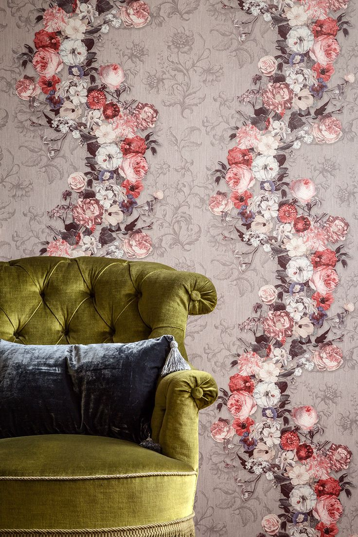 Lush blooms inspired by the famous masterpieces of time gone by. Create the on-trend look with Galerie Wallcoverings Dutch Masters wallpaper collection.