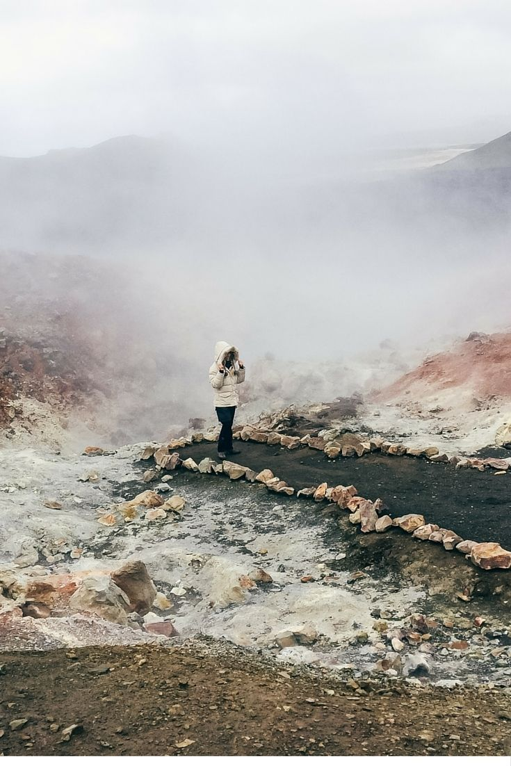 Hot springs in #Landmannalaugar Iceland! Check our blogpost for the road to Landmannalaugar and photos of these colorful mountains!