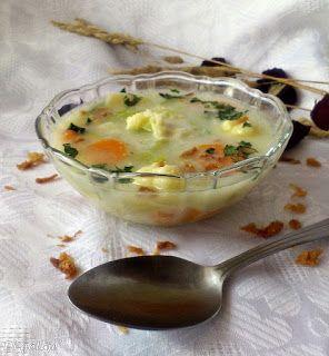 Di gotuje: Zupa porowo-serowa z kluskami kładzionymi