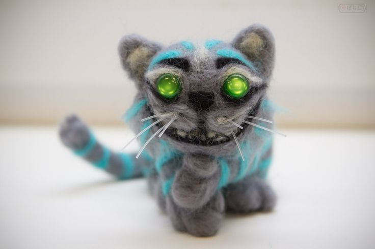 Cheshire Cat #dry #felting