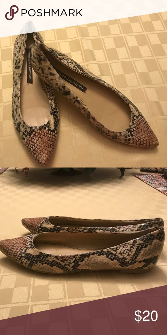 "Ladies ""snake skin"" flats by Chinese Laundry Very cute ladies snakeskin look flats by Chinese Laundry. Chinese Laundry Shoes Flats & Loafers"