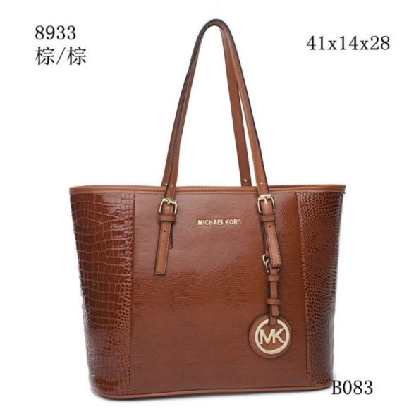 Michael Kors Miranda Backpack (Luggage) Backpack Bags featuring polyvore* womens fashion* bags* backpacks* leather strap backpack* drawstring bag* brown leather backpack* day pack backpack and michael kors bags