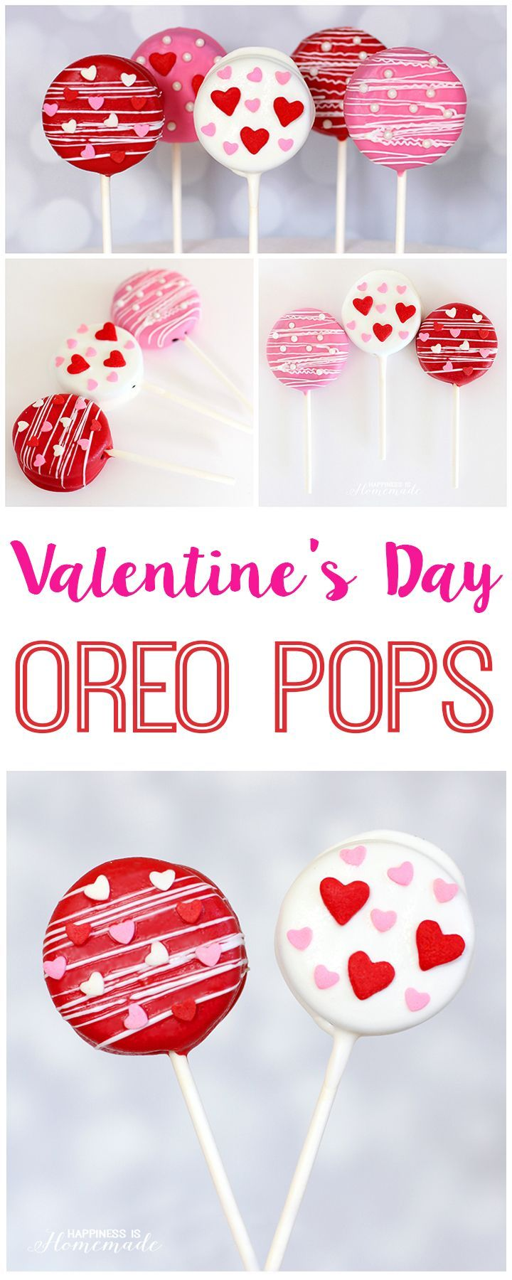 Super Cute Valentine's Day Oreo Pops! - Happiness is Homemade