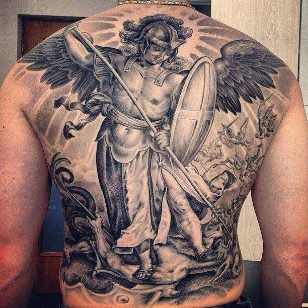 1000 images about archangel michael tattoos on pinterest popular satan and oil on canvas. Black Bedroom Furniture Sets. Home Design Ideas