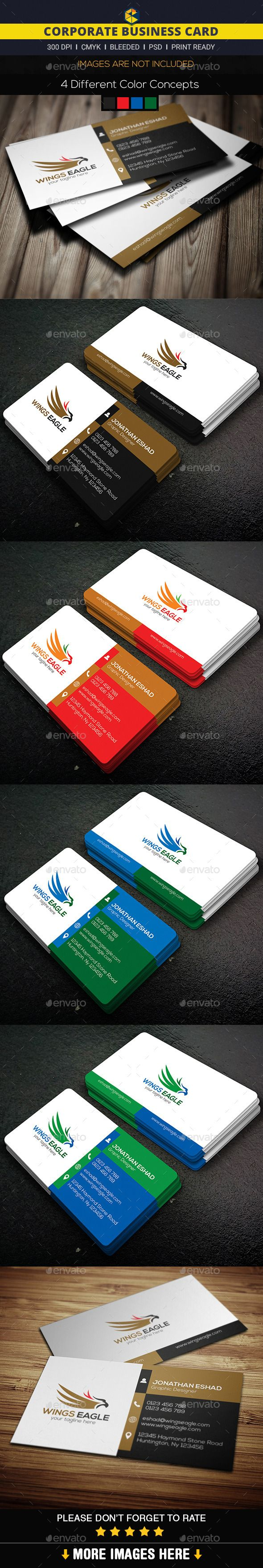 Corporate Business Card Template #design #print Download: http://graphicriver.net/item/corporate-business-card/11930696?ref=ksioks