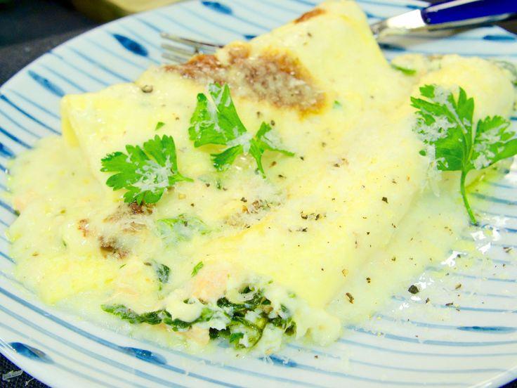 Laxcanelloni med spenat och ost | Recept från Köket.se