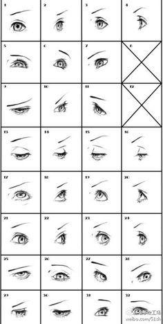 [그리기 튜토리얼] 다른 각도 눈 ~ 604 * 12 ...