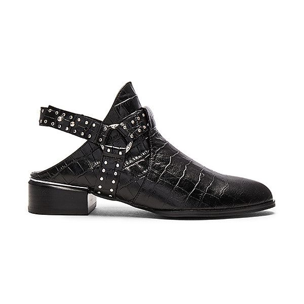 SENSO Danx II Bootie (218 AUD) ❤ liked on Polyvore featuring shoes, boots, ankle booties, booties, low heel bootie, studded ankle boots, studded boots, ankle strap booties and short boots