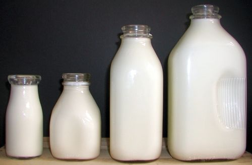 Red Hill General Store: Glass Milk Bottles; New in bulk for less than vintage on Etsy. Great for serving drinks in.