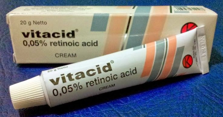 VITACID Retinol 0,05% CREAM Vitamin A FOR: Anti Ageing / Acne / Wrinkle/Papules Netto: 20 gr  Effective for treatment: Anti Acne, Blemishes, Anti Wrinkle, Anti Aging / Ageing, Skin Face Lift Acne, Burns, Chronic Ulcers Of Calf, Scars, Psoriasis Retin.
