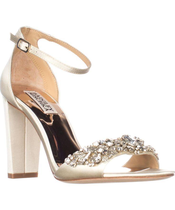 BADGLEY MISCHKA | Badgley Mischka Barby Dress Sandals, Ivory #Shoes #Sandals  #BADGLEY