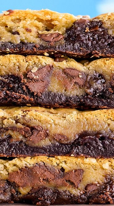 Chewy, Fudgy Chocolate Chip Brookies