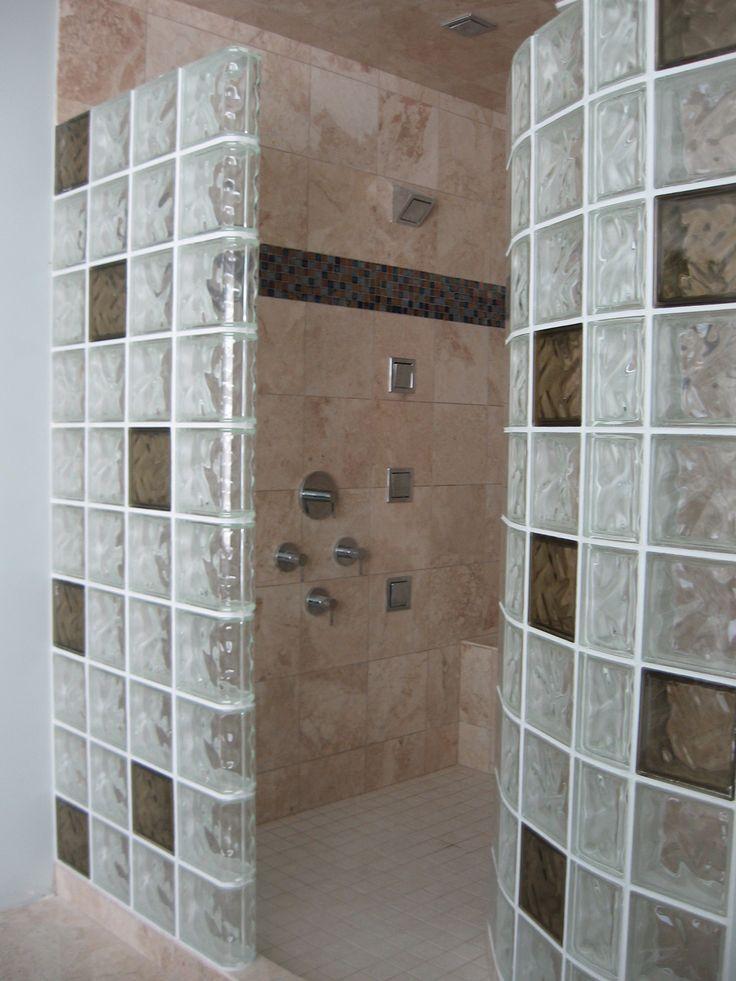 Best 25 Glass Block Shower Ideas On Pinterest Small Bathroom Showers Glass Blocks Wall And