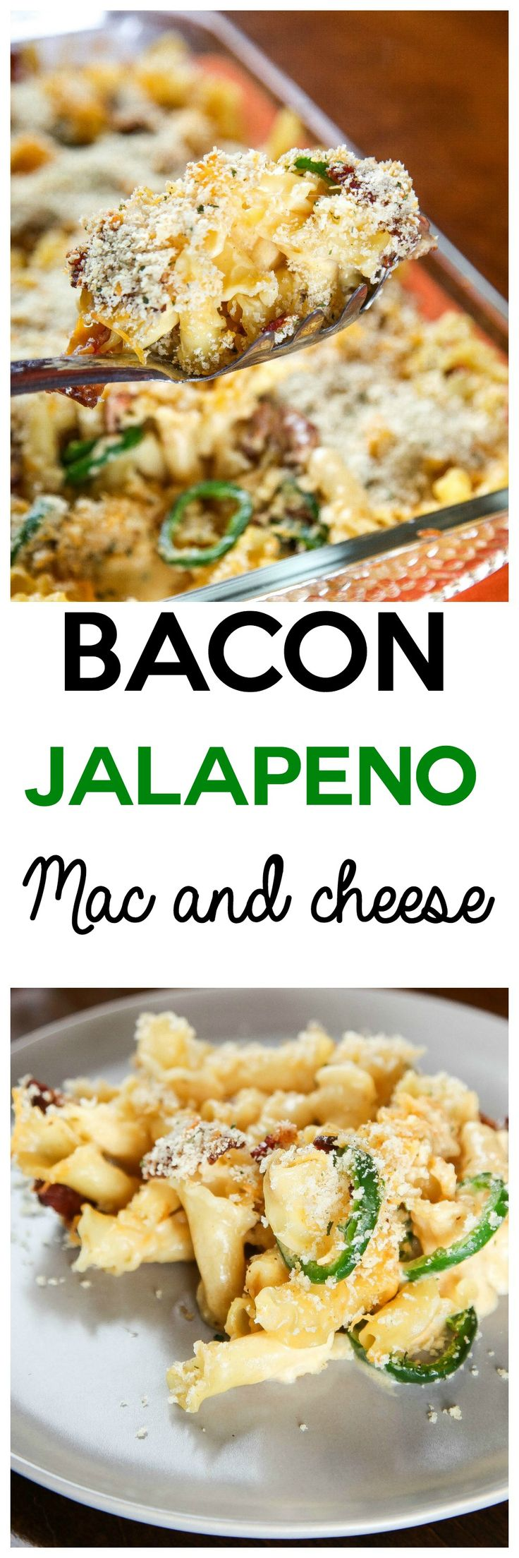 Creamy cheesy pasta loaded with crispy bacon and spicy jalapenos. Your favorite…
