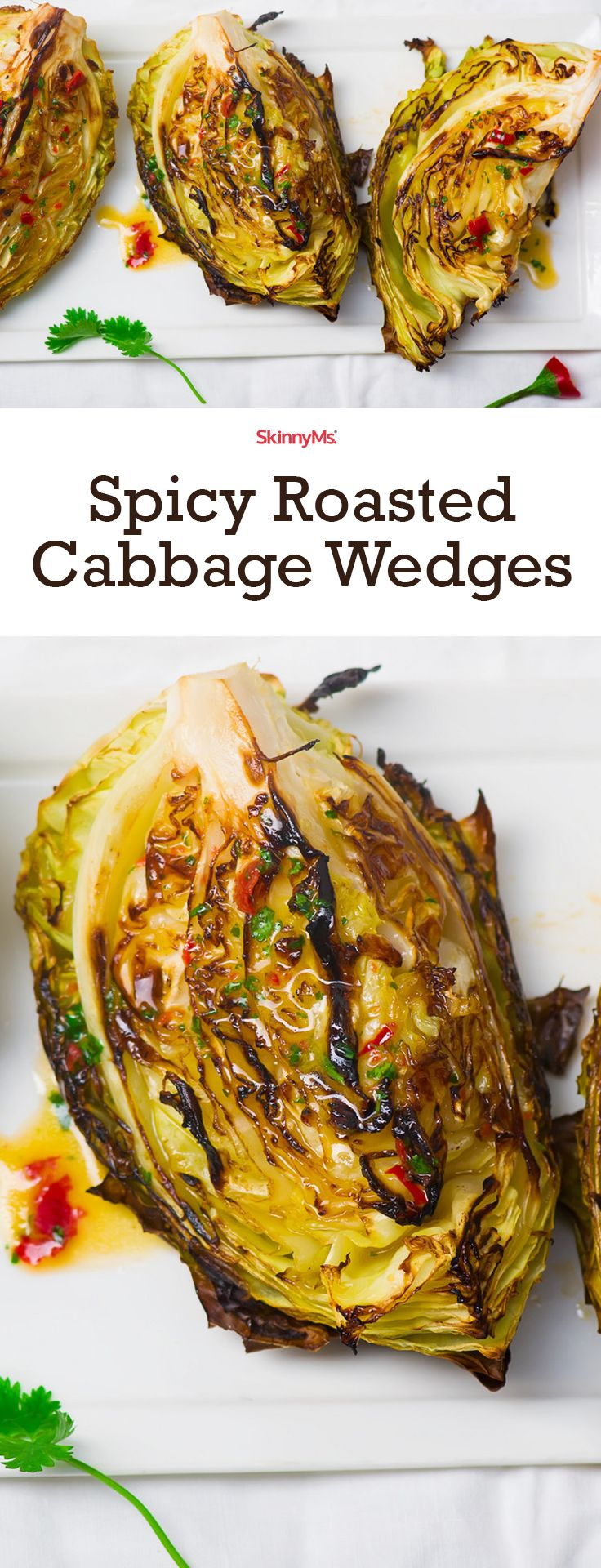 Spicy Roasted Cabbage Wedges  - we've discovered a mouthwatering cabbage-prep method that'll blow your taste buds away – roasting!