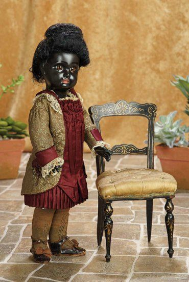 Beautiful French Bisque Bebe by Emile Jumeau with Rare Ebony Black Complexion 5500/7500 | Art, Antiques & Collectibles  Toys & Hobbies  Dolls  | Auctions Online | Proxibid