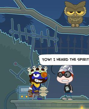 Jeez dude, You on coffee?! IT'S NOT A SPIRIT!!! IT'S AN FRIGGIN OWL!!!