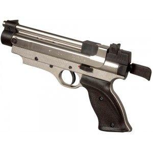 Cometa Indian chromé pistolet à plombs calibre 4,5 mm à levier de rechargement démultiplicateur  Modèle chromé