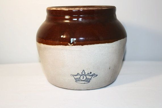Robinson Ransbottom Bean Pot 3 Quart Crown Rustic