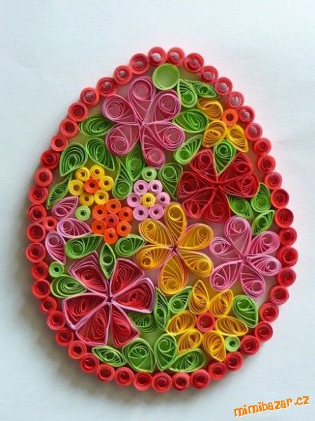 Easter Egg Quilling by Zdeňka Š / http://www.mimibazar.cz