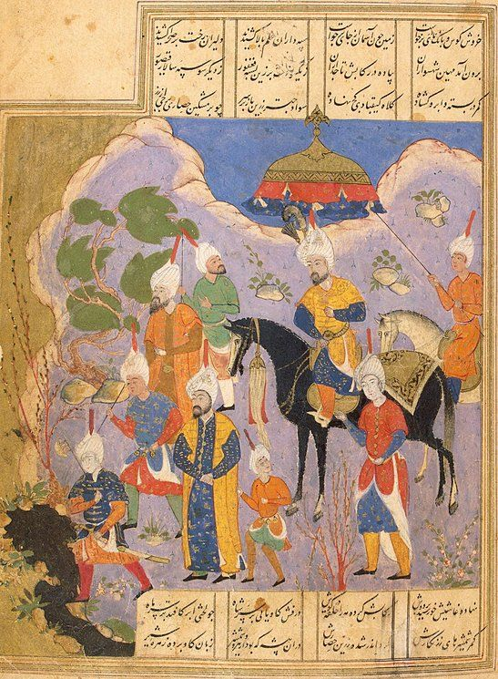Khusraw is Going Out for a Hunt and is Making for Shirin's Castle