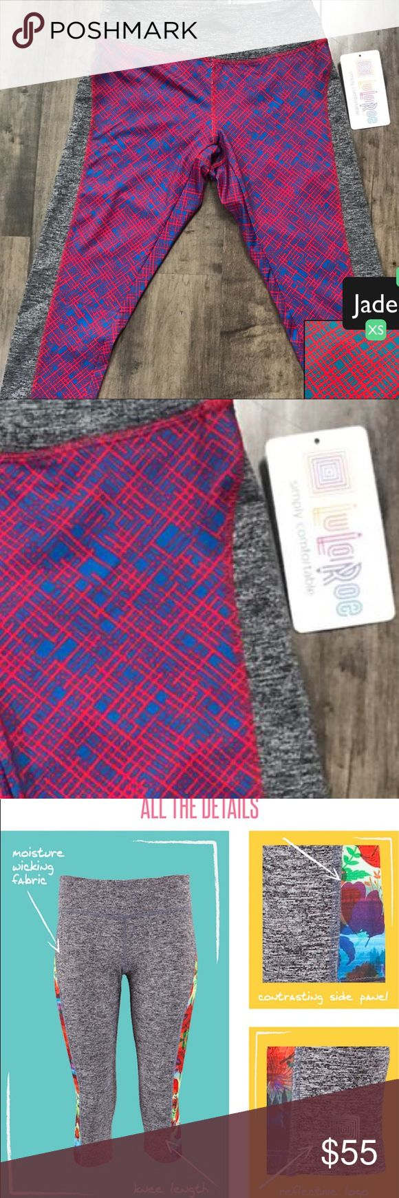 """LuLaRoe Jade Athletic Workout Capri The """"Jade"""" capri athletic leggings let you get your sweat on comfortably and stylishly. They have a comfortable and flattering yoga waistband to ensure you'll look and feel good, no matter where you are on your fitness journey. LuLaRoe Pants Capris"""