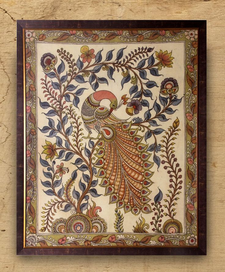 Majestique - Original Kalamkari on Fabric