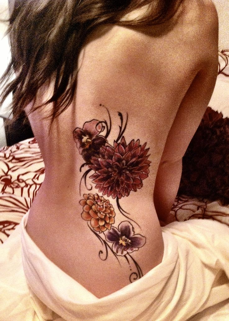 Wow this dahlia tattoo is gorgeous!!! I would love this but on a smaller scale....