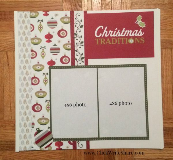 Christmas Scrapbook layout created using the Creative Memories Christmas Joy paper Series