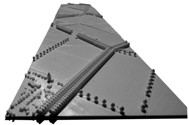 Go nuts ! 3d print maquette van het masterplan. Inge Vleemingh