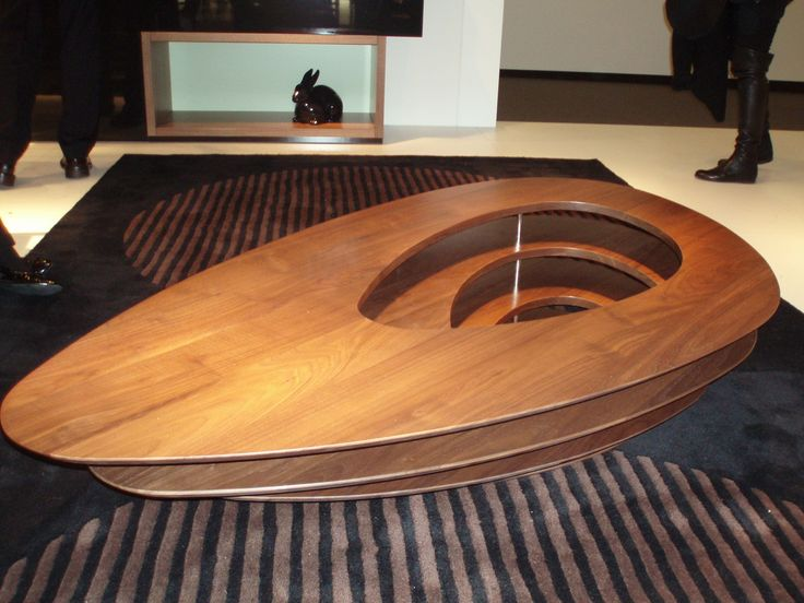 The Interstices designed by Noe Duchaufour-Lawerence in 2010. Its boat framed outline comprises of 4 floating surfaces. Looks magnificent in its White or solid Walnut finishes. Height 28.5 x 84 x 150cm.