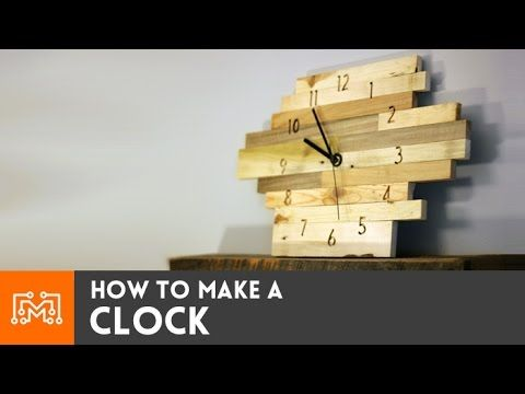 How To Make A Clock From Pallet Wood Blocks - YouTube