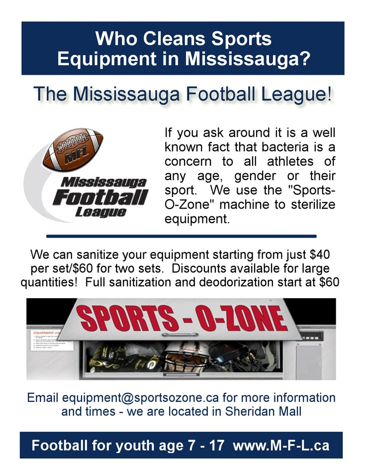 Sports O Zone - available to clean sports equipment!