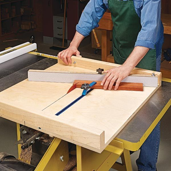 Pivoting Fence For A Crosscut Sled Table Saw Sled Table Saw