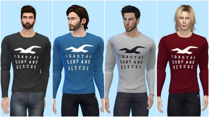 Coastal Long Sleeve Shirt at The Sims 4 ID via Sims 4 Updates