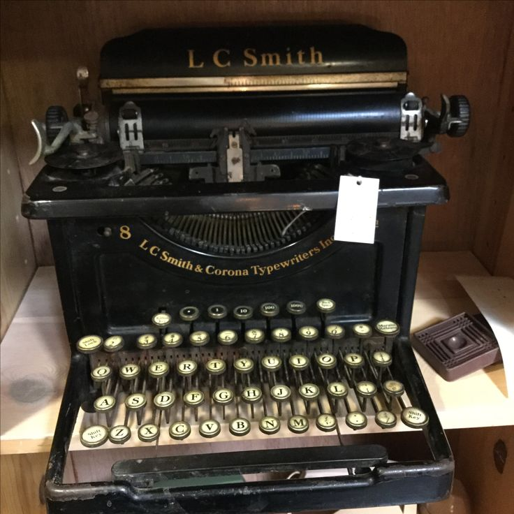 vintage LC Smith & Corona typewriter $65 in Booth 29
