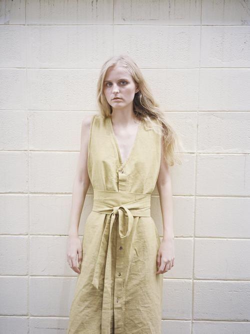 shop ethical sustainable & ethical clothing by Seeker x Retriever Nara Dress: Mango