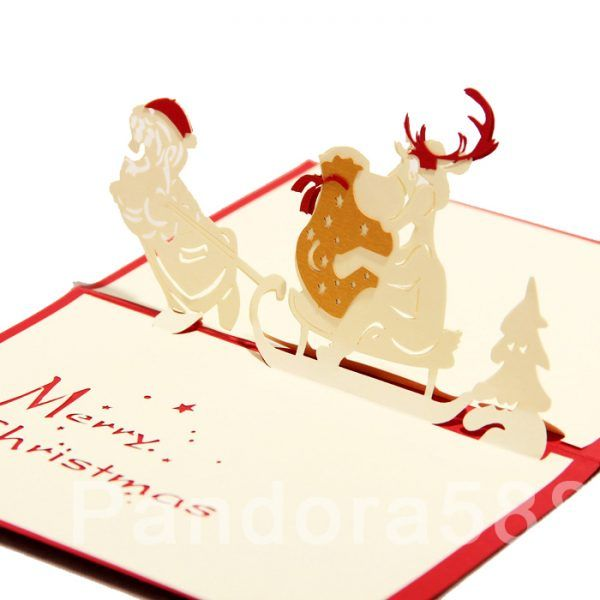 Santa claus christmas 3d pop up card