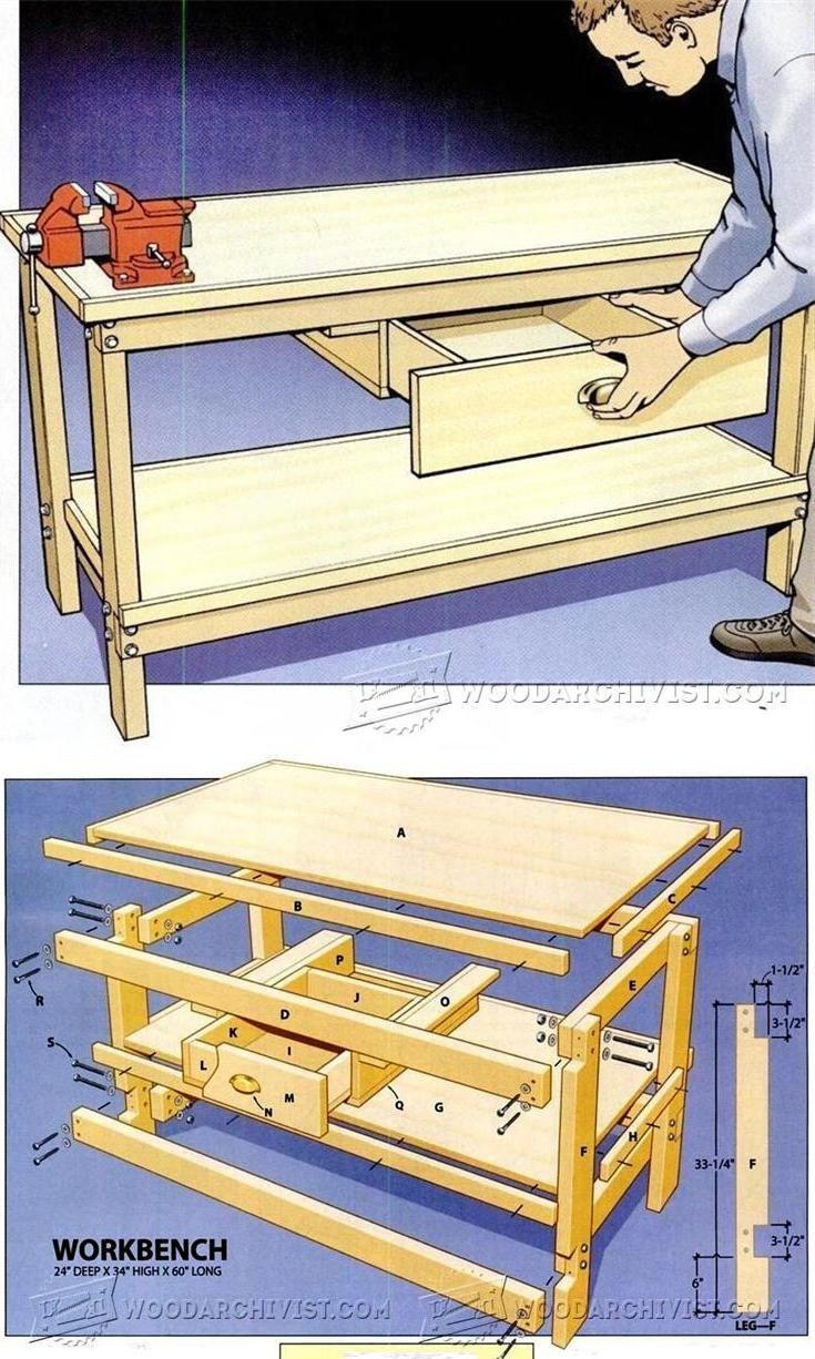 ideas about workbench plans on pinterest work bench diy workbench